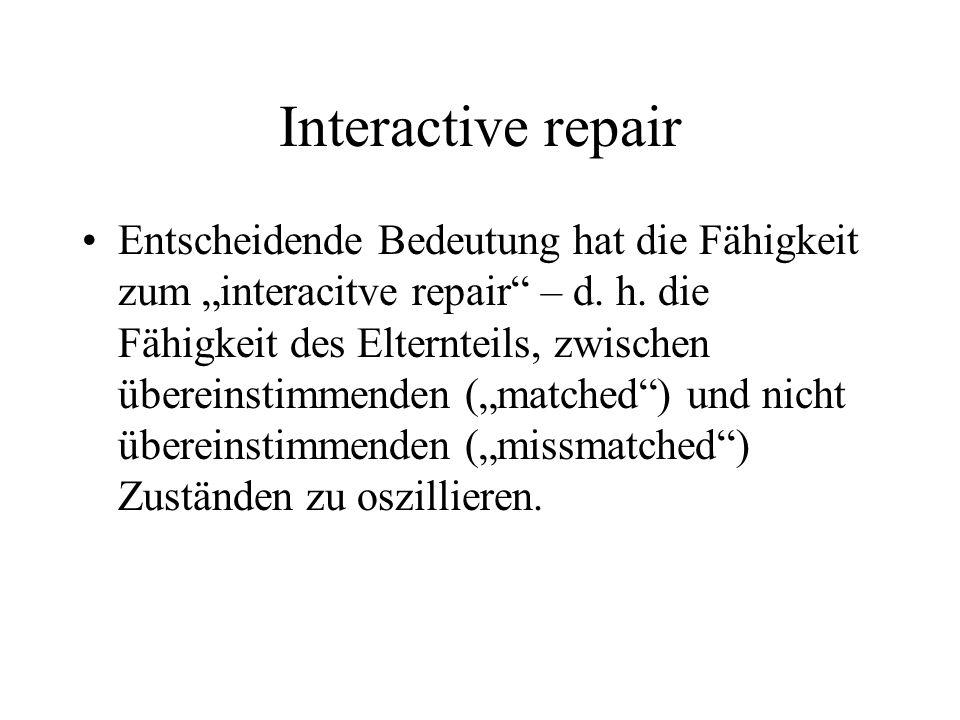 Interactive repair Entscheidende Bedeutung hat die Fähigkeit zum interacitve repair – d.