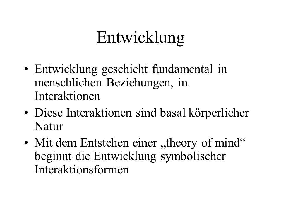 Enactment (unbewusster Handlungsdialog) Die Handlungsdimension umfasst nonverbale Aspekte der Interaktion, und darunter v.