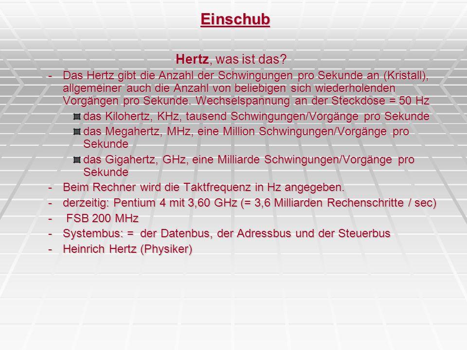 PC-Innenleben – Der PC – BUS-Systeme Wireless LAN (IEEE 802.11) lokale Netzwerke auf Funkbasis Anmeldung an so gen.