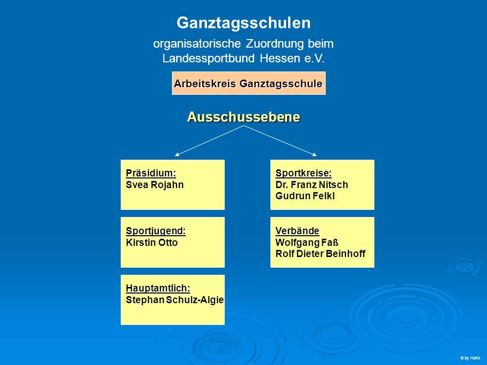 Ganztagsschulen organisatorische Zuordnung beim Landessportbund Hessen e.V.