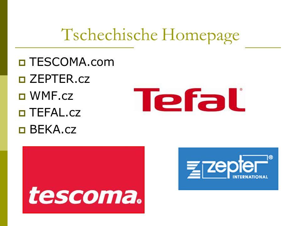 Tschechische Homepage TESCOMA.com ZEPTER.cz WMF.cz TEFAL.cz BEKA.cz