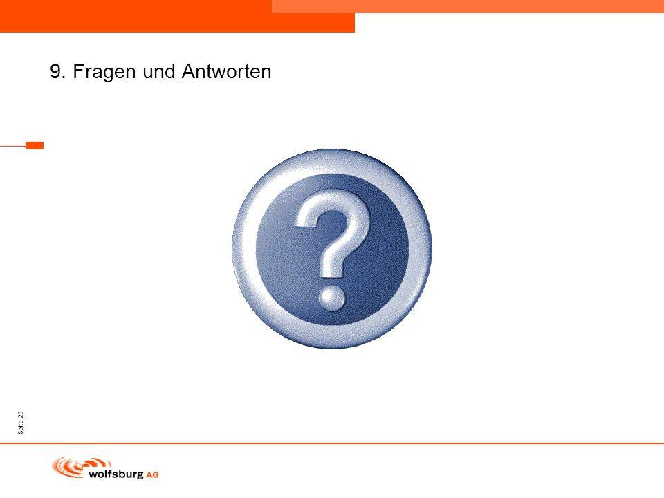 Navigationsleiste Aktueller Eintrag wird rot hervor- gehoben Navigationsleiste weiter Seite 23 9. Fragen und Antworten