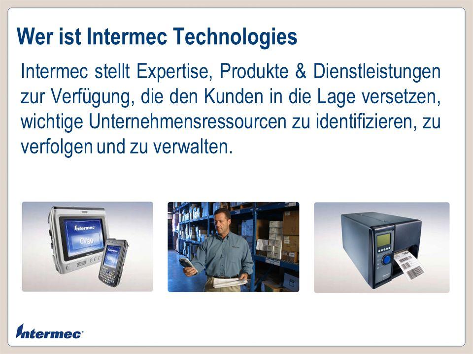 Technologieführer Seit 1996 hat Intermec mehr als 25% der Patente in seiner Industry veröffentlicht 153 RFID Patente Mehr 700 Patente RFID 21% Other 5% Wireless 30% Battery Management 7% Printers 13% Scanning 24%