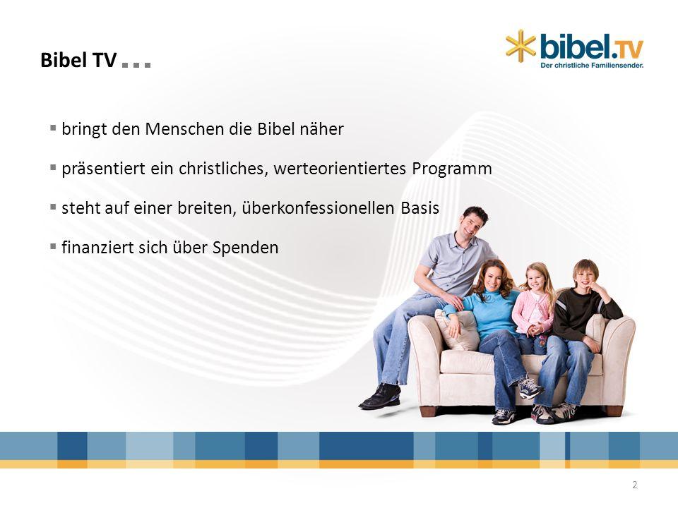 Stimmen zu Bibel TV Alice Schwarzer, Frauenrechtlerin und Herausgeberin der Zeitschrift EMMA: Ich wünsche mir für Bibel TV keine Schriftgläubigkeit, sondern Modernität und Aufgeschlossenheit.