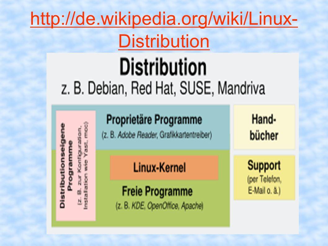 http://de.wikipedia.org/wiki/Linux- Distribution