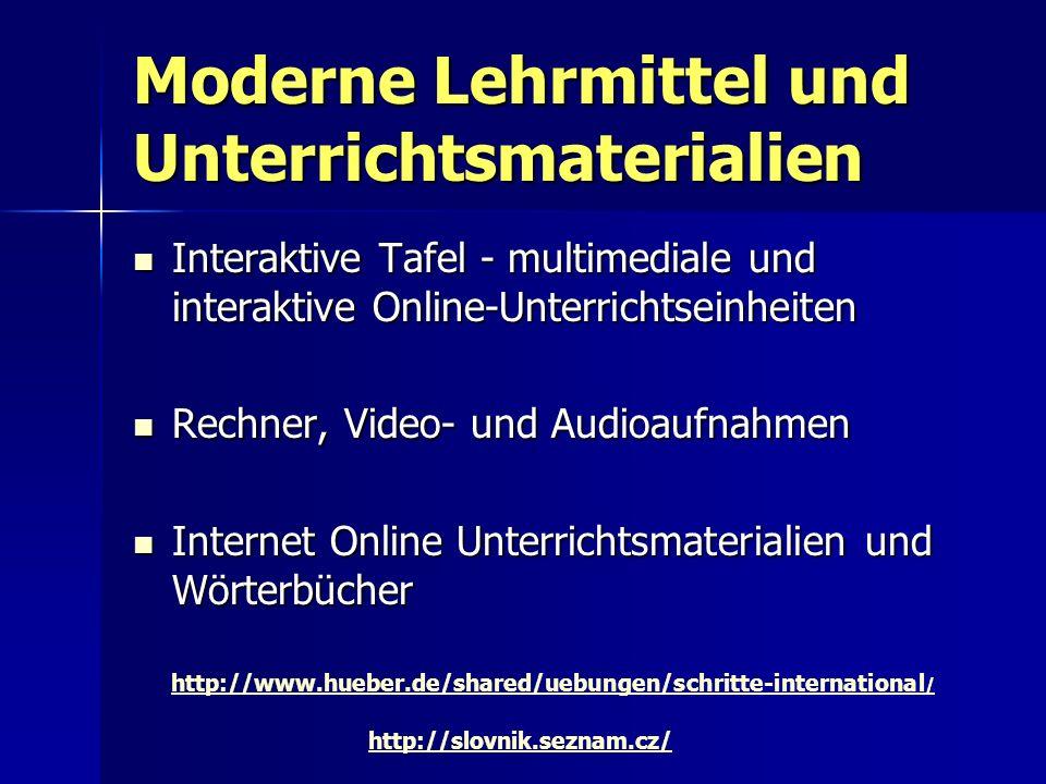 Moderne Lehrmittel und Unterrichtsmaterialien Interaktive Tafel - multimediale und interaktive Online-Unterrichtseinheiten Interaktive Tafel - multime