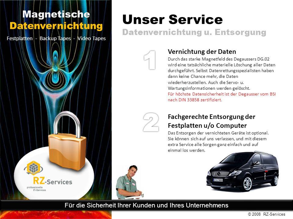 Unser Service Datenvernichtung u.