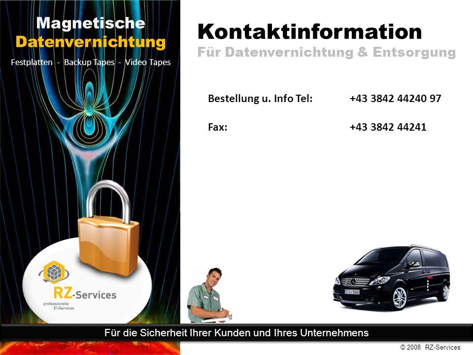 Kontaktinformation Für Datenvernichtung & Entsorgung Bestellung u.