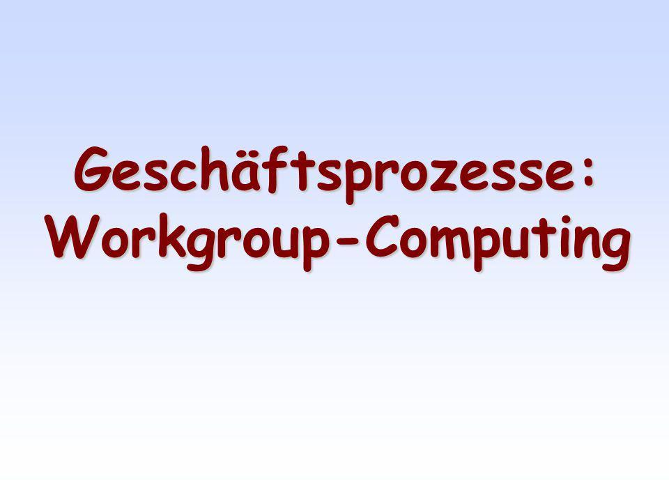 Interdisziplinäres Forschungsgebiet Soziologie Organisations-theorie Kommunikations-technik Informations-management Informatik Workgroup-Computing Computergestützte Gruppenarbeit nach Schlichter 2000