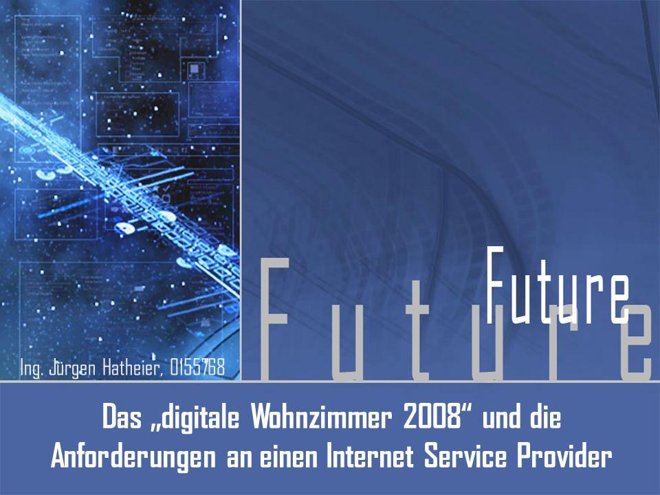 Das digitale Wohnzimmer 2008 und die Anforderungen an einen Internet Service Provider Ing. Jürgen Hatheier, 0155768