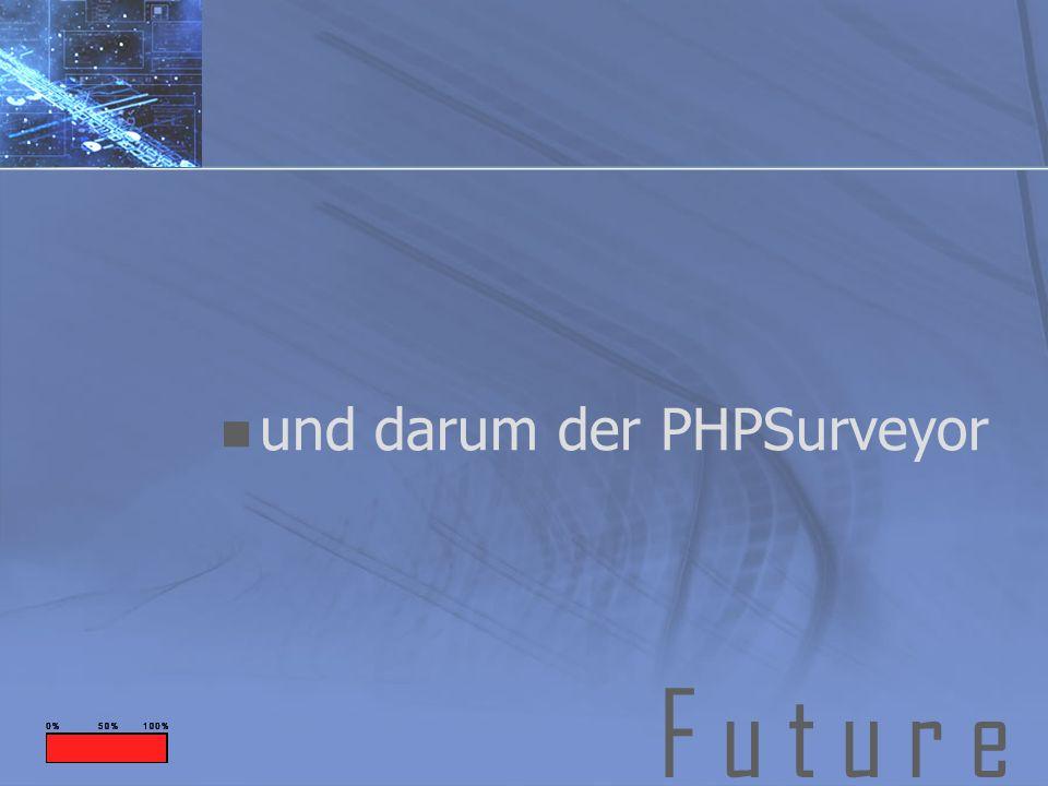 F u t u r e und darum der PHPSurveyor