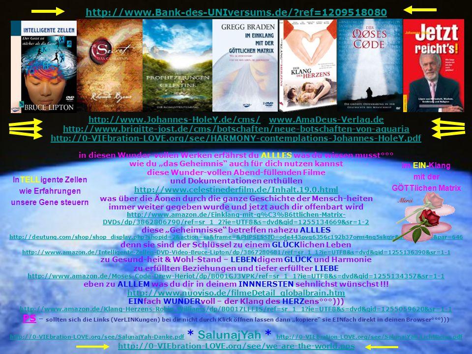 http://www.Bank-des-UNIversums.de/?ref=1209518080 in diesen Wunder-vollen Werken erfährst du ALLLES was du wissen musst°°° wie du das Geheimnis auch f