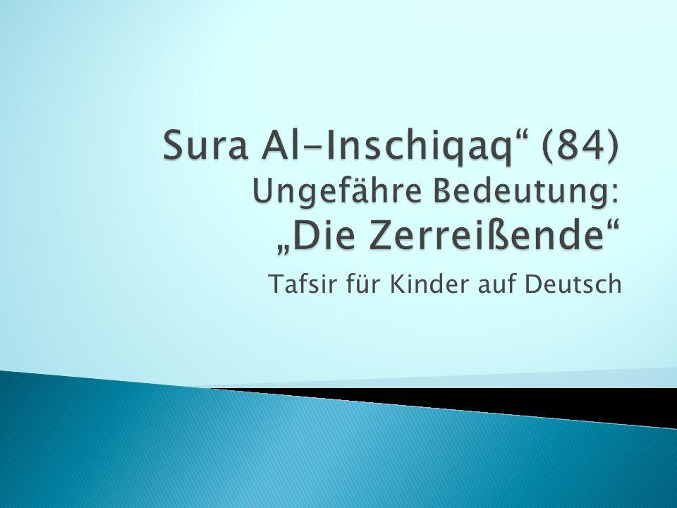 Tafsir für Kinder auf Deutsch
