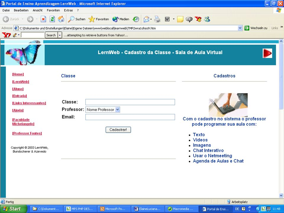 Sala de Aula Virtual para Professores