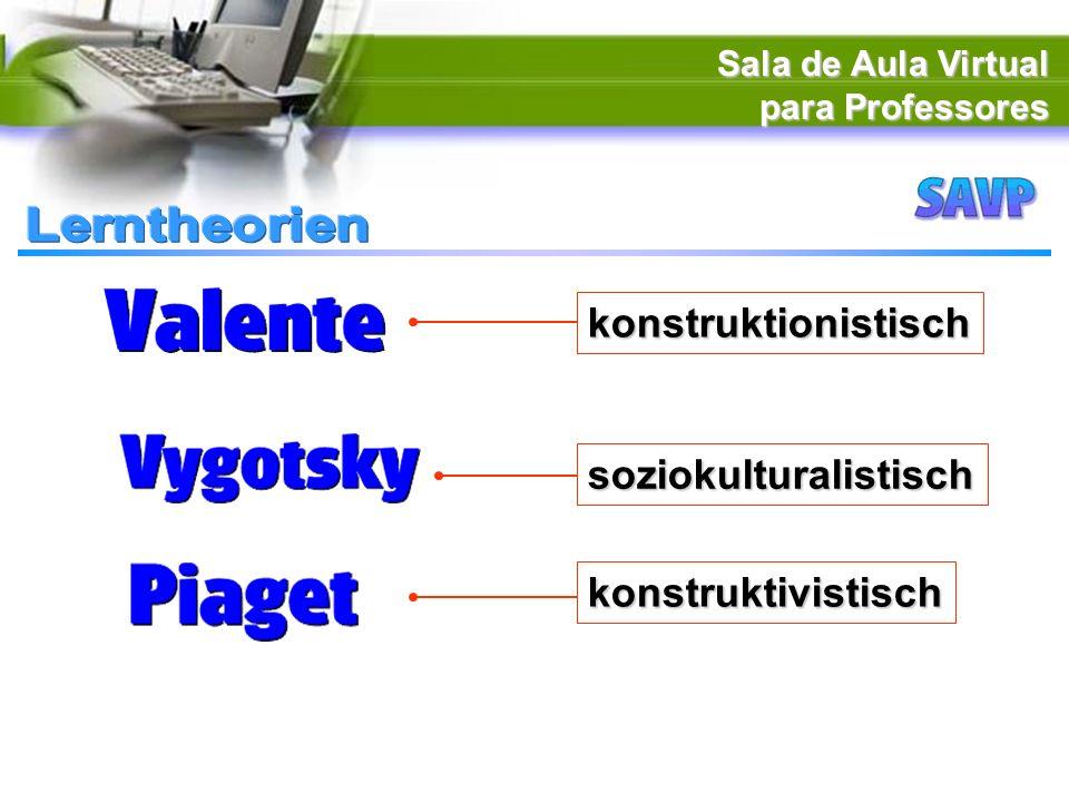 Sala de Aula Virtual para Professores konstruktivistisch konstruktionistisch soziokulturalistisch