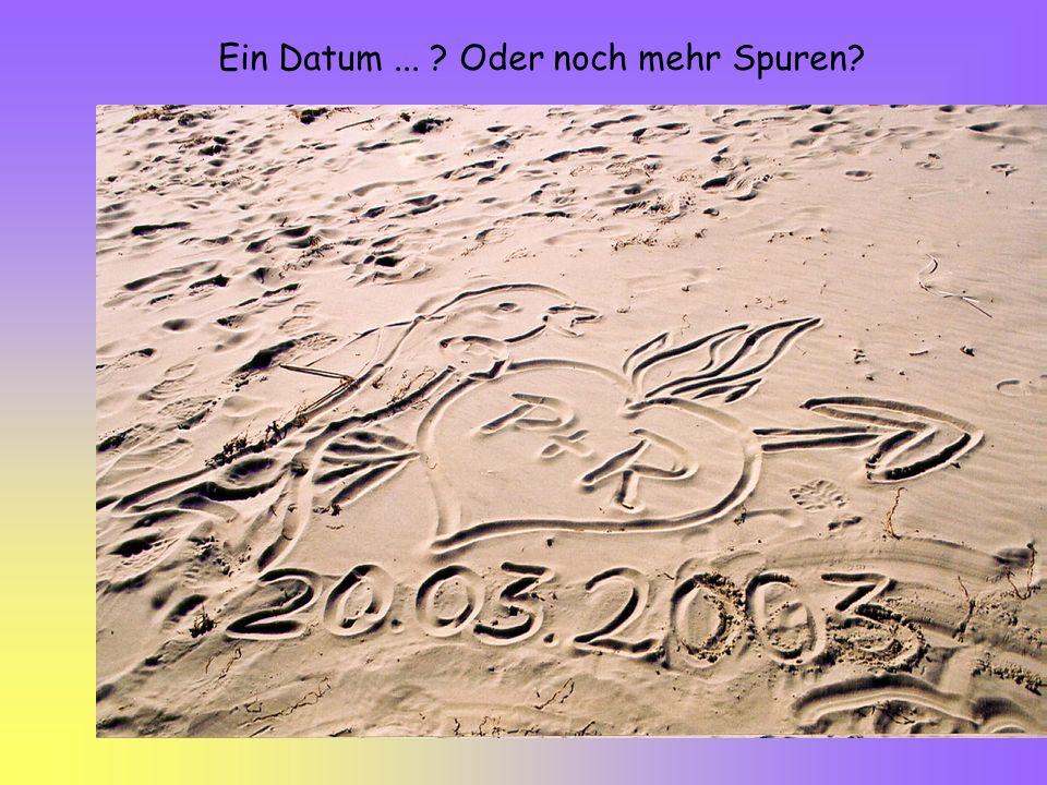 Ein Datum... ? Oder noch mehr Spuren?
