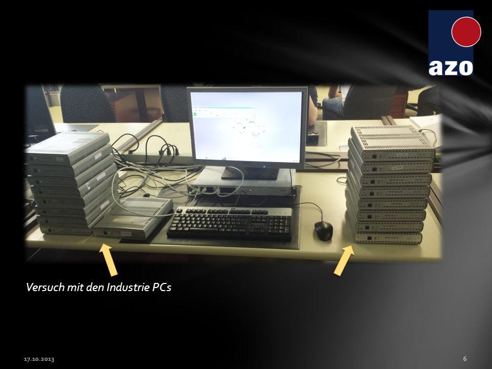 Versuch mit den Industrie PCs 17.10.20136