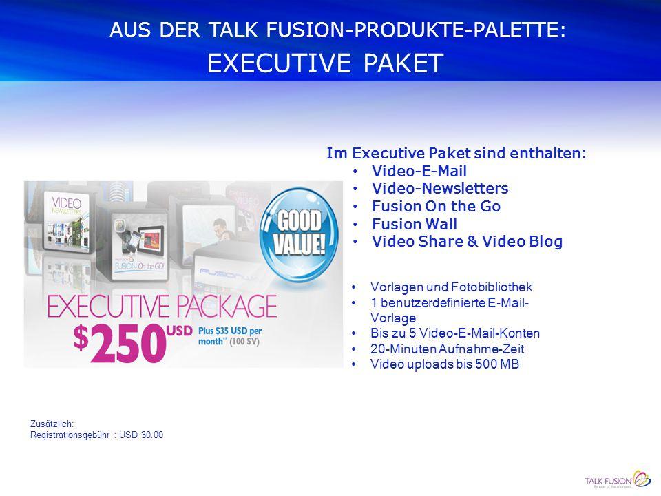 WAS KAUFE ICH AUS DER PRODUKTE-PALETTE ? Es stehen drei Pakete zur Verfügung: Executive-Paket Elite-Paket Pro-Paket