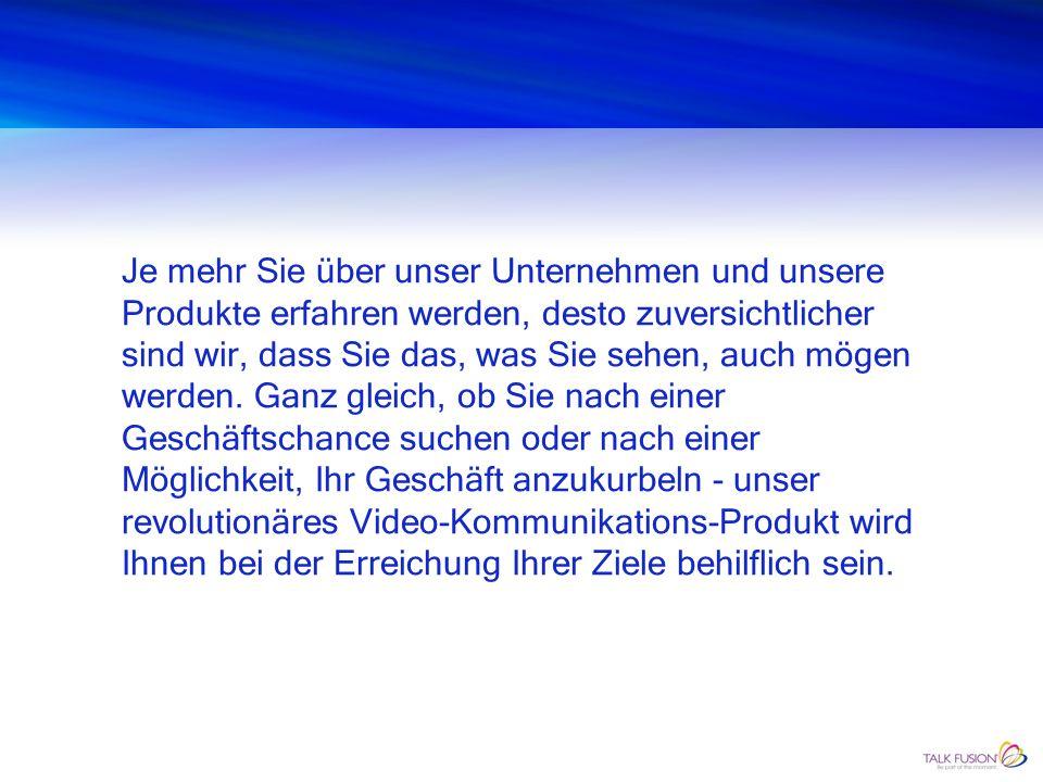 WIE WEITER Kontaktieren Sie uns noch heute: Fritz & Christine Schorer www.video-kommunikations-vision.ch E-Mail: fritz.schorer@video-kommunikations-vi