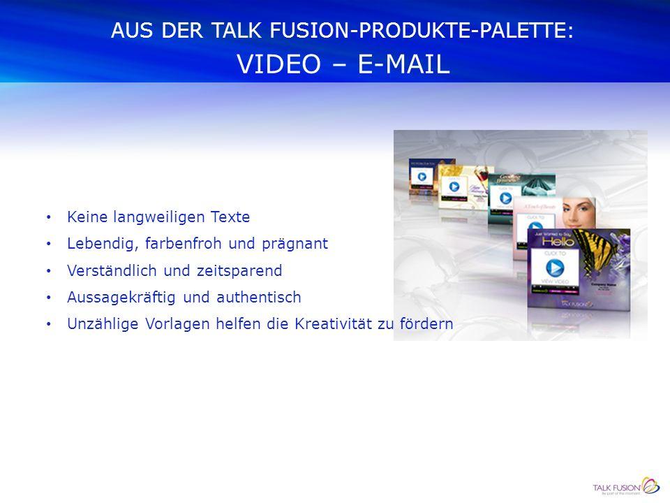 WIE WEITER Kontaktieren Sie uns noch heute: Fritz & Christine Schorer www.video-kommunikations-vision.ch E-Mail: fritz.schorer@video-kommunikations-vision.ch Telefon: 044 853 01 63 Mobile:Fritz Schorer: +41 79 825 72 32 Christine Schorer:+41 79 957 11 81 Skype:schorer53