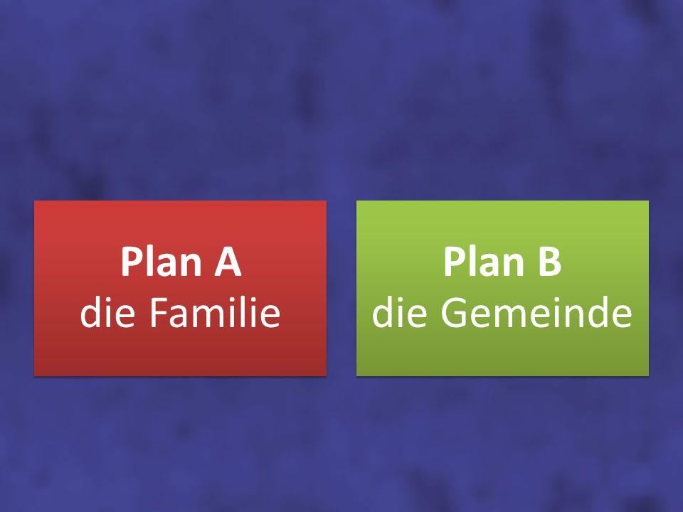 Plan A die Familie Plan B die Gemeinde