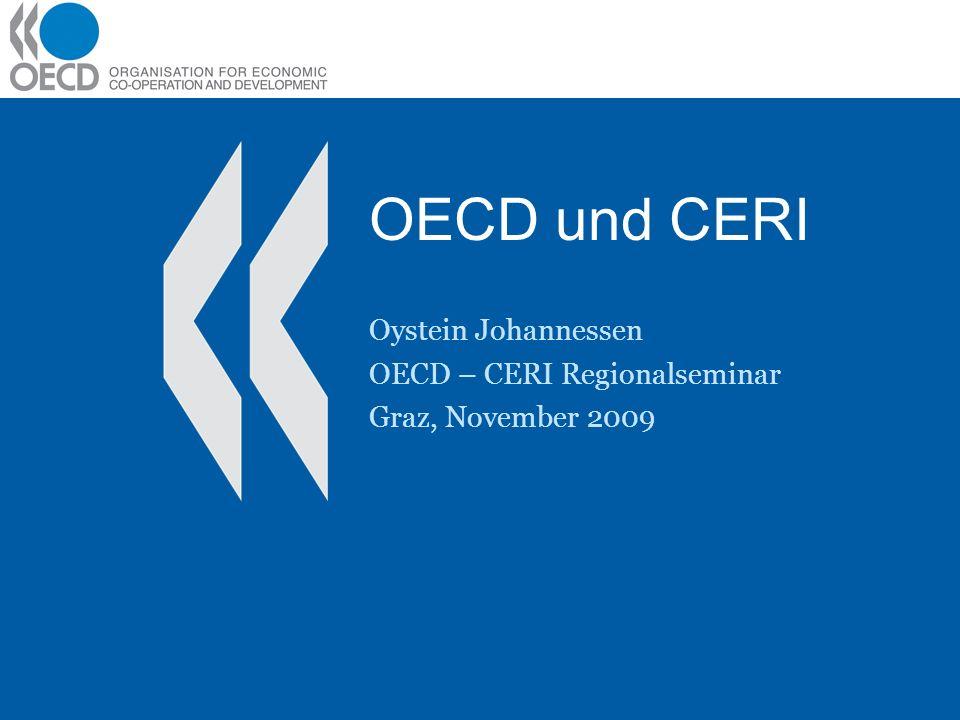 Inhalt OECD und CERI Beispiele aus CERI –Innovative Learning Environments (ILE) –New Millenium Learners (NML) –Globalisation and Linguistic Competence (GLC)