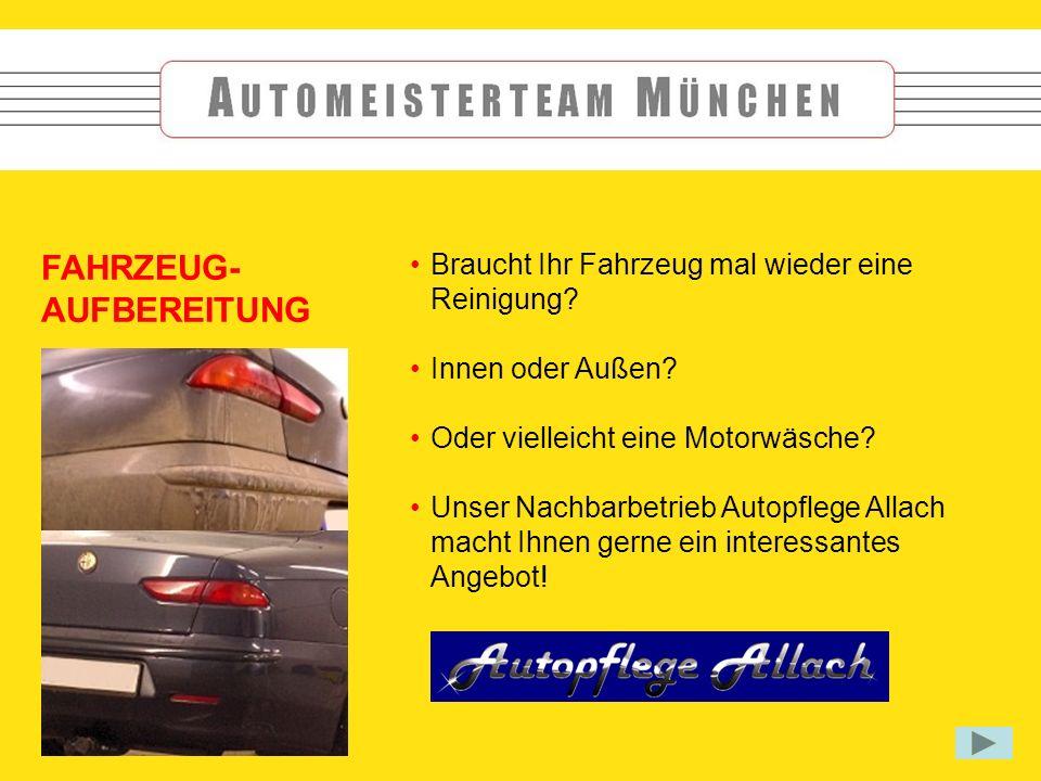 Braucht Ihr Fahrzeug mal wieder eine Reinigung. Innen oder Außen.