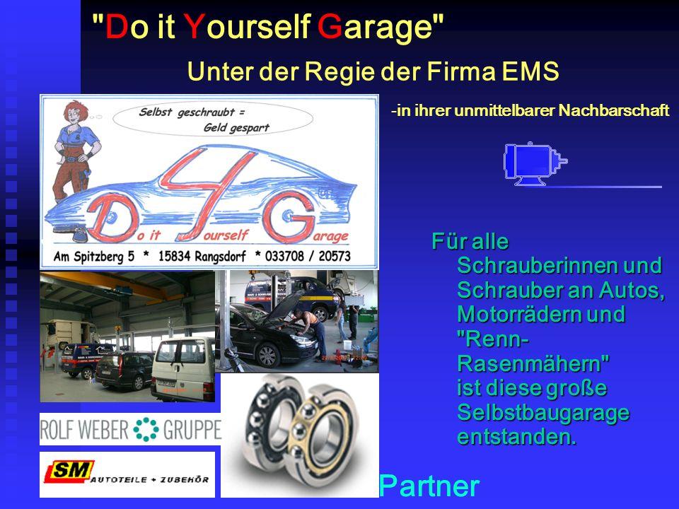 Do it Yourself Garage Für alle Schrauberinnen und Schrauber an Autos, Motorrädern und Renn- Rasenmähern ist diese große Selbstbaugarage entstanden.