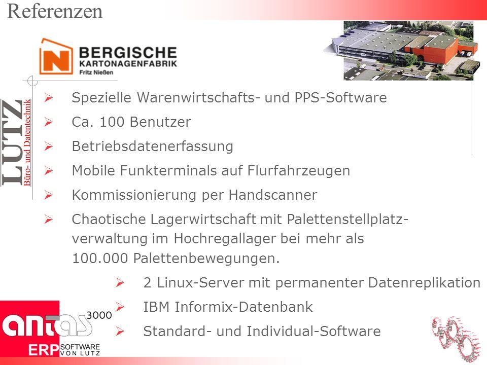 Spezielle Warenwirtschafts- und PPS-Software Ca.