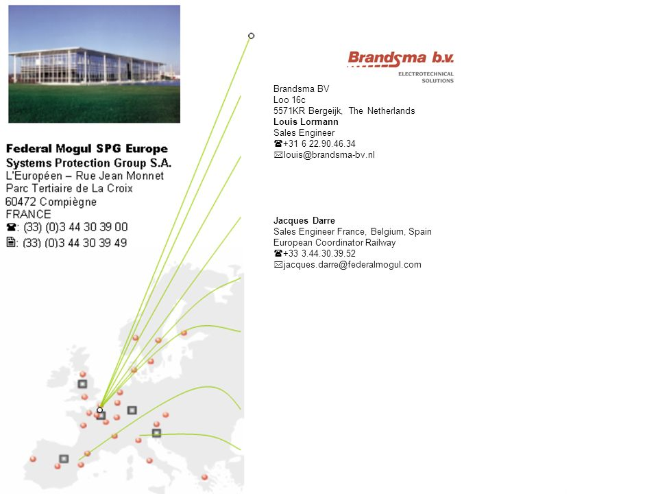 1502/2006Data classification: Public SPG Marketing Europe / ITS Brandsma BV Loo 16c 5571KR Bergeijk, The Netherlands Louis Lormann Sales Engineer +31