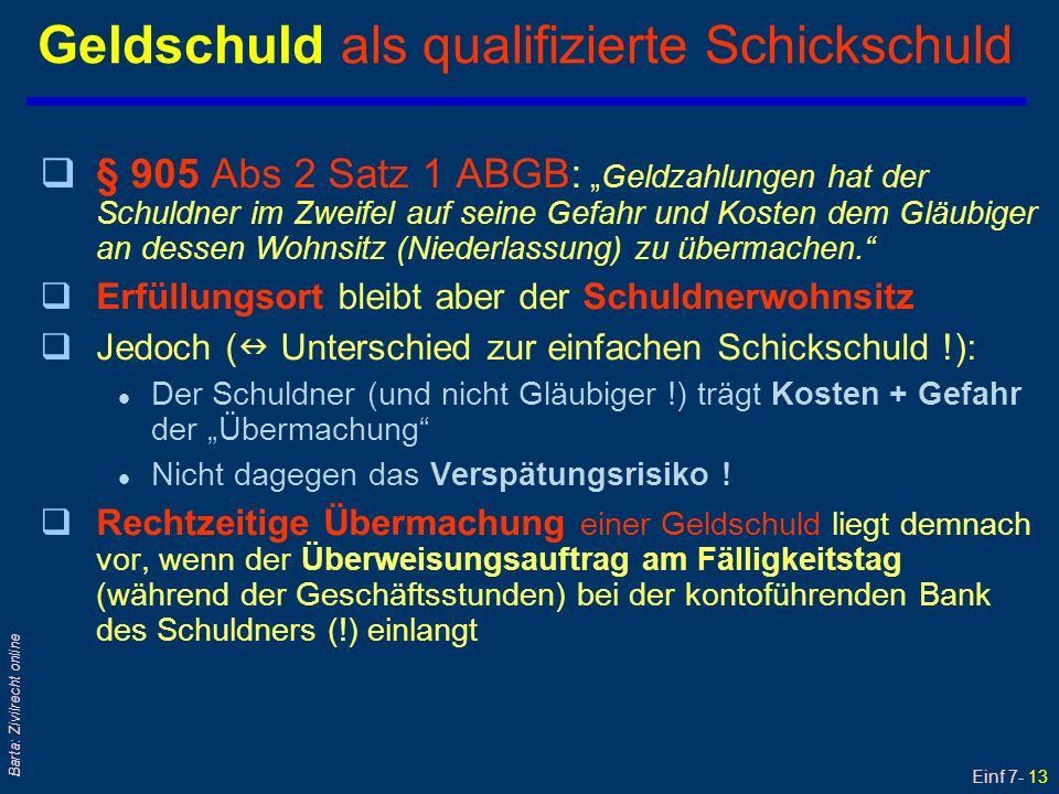 Einf 7- 14 Barta: Zivilrecht online Mängel von RG