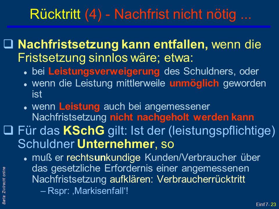Einf 7- 24 Barta: Zivilrecht online Was bewirkt der erklärte Rücktritt.