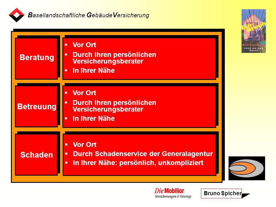 B asellandschaftliche G ebäude V ersicherung Bruno Spicher Mobi 24 Servicezentrale 24 h – Assistance 24 h – Reparatur-Service JurLine MobiCasa Plus Alarmanlagen Sicherheitsartikel