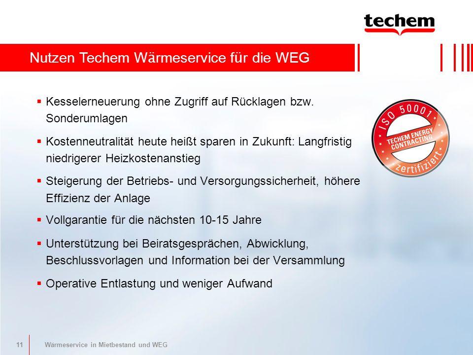 11 Wärmeservice in Mietbestand und WEG Kesselerneuerung ohne Zugriff auf Rücklagen bzw.