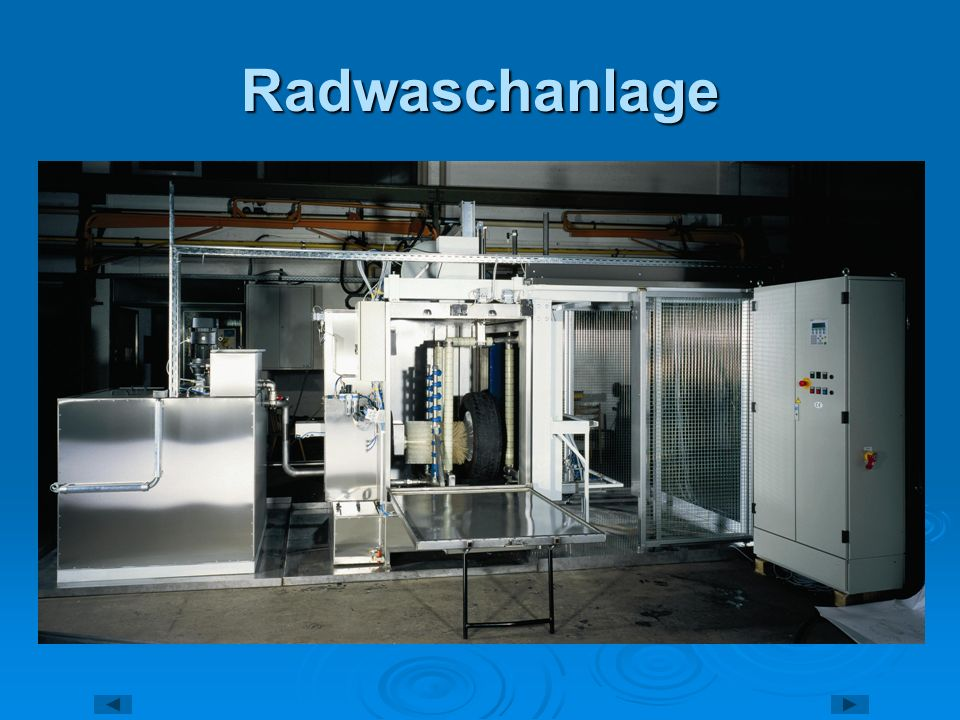 Radwaschanlage