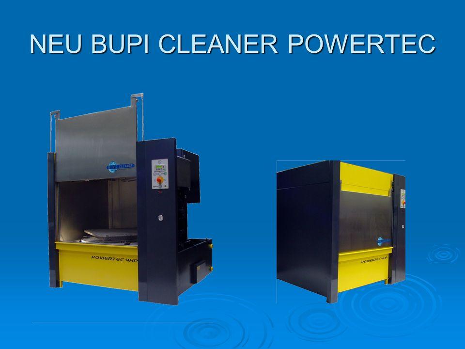 BUPI CLEANER POWERTEC 4HP Raumsparender Aufbau und ergonomische Vorteile kennzeichnen die kommende Generation von Reinigungsanlagen unseres renommierten Unternehmens.