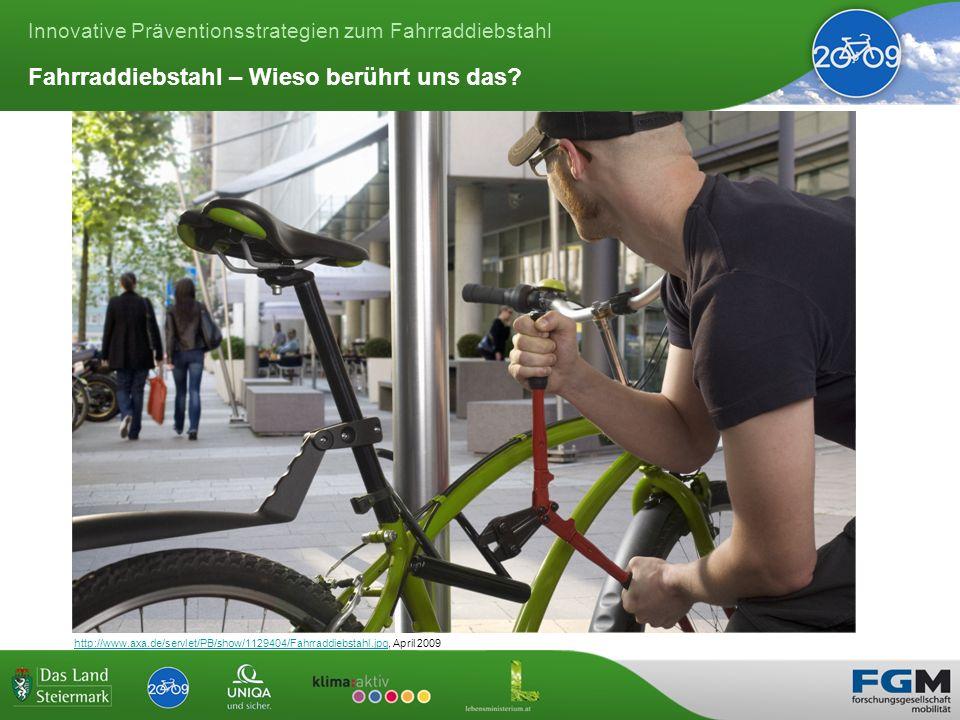 Innovative Präventionsstrategien zum Fahrraddiebstahl Fahrraddiebstahl – Wieso berührt uns das.