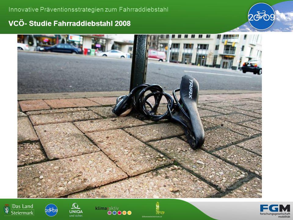 Innovative Präventionsstrategien zum Fahrraddiebstahl VCÖ- Studie Fahrraddiebstahl 2008