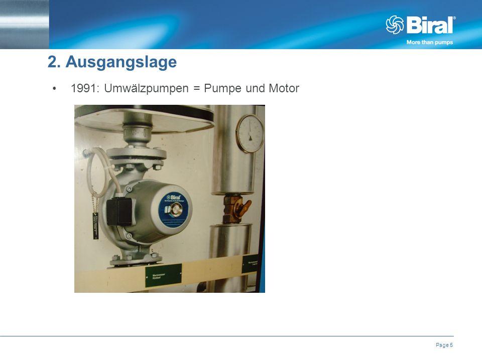 Page 5 1991: Umwälzpumpen = Pumpe und Motor 2. Ausgangslage