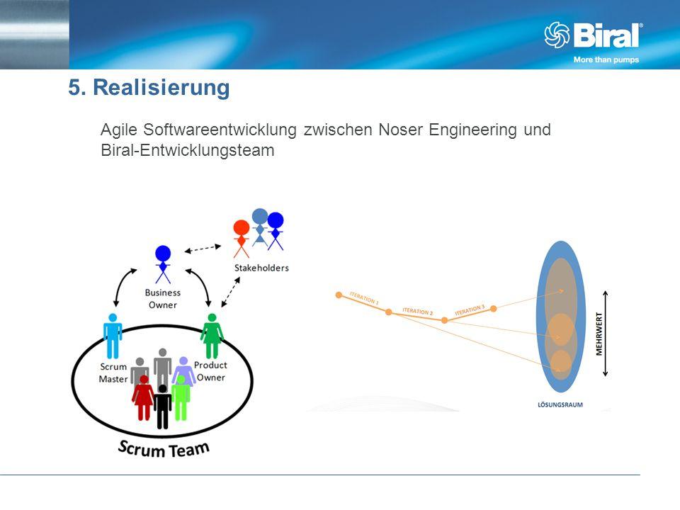5. Realisierung Agile Softwareentwicklung zwischen Noser Engineering und Biral-Entwicklungsteam