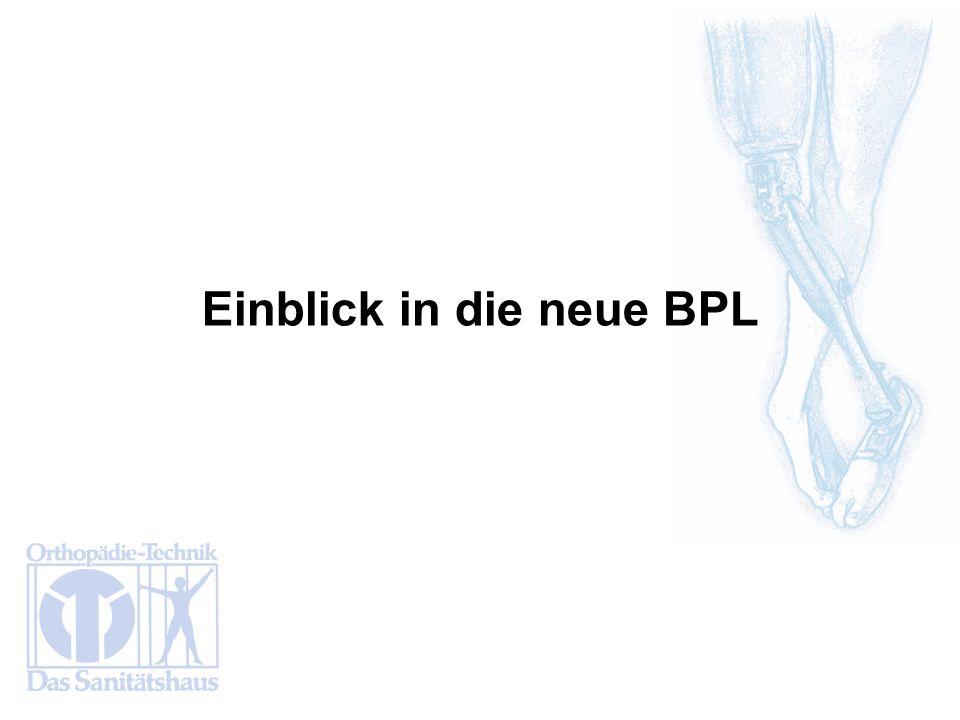 Einblick in die neue BPL