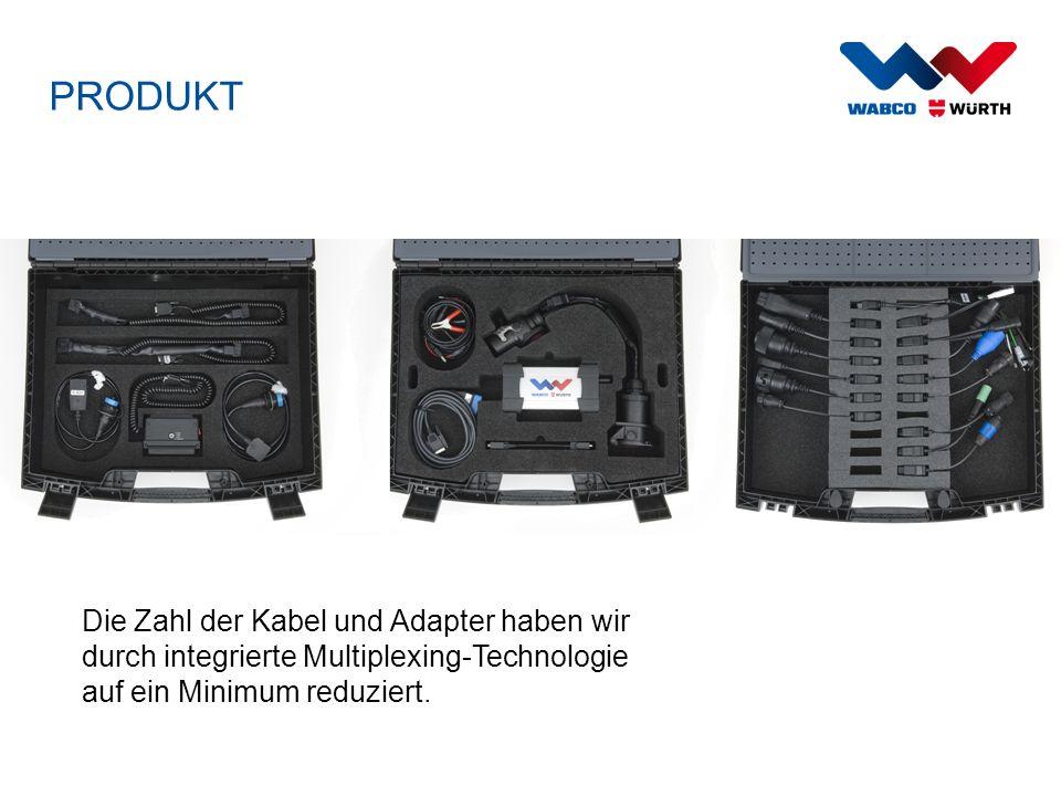 PRODUKT Die Zahl der Kabel und Adapter haben wir durch integrierte Multiplexing-Technologie auf ein Minimum reduziert.