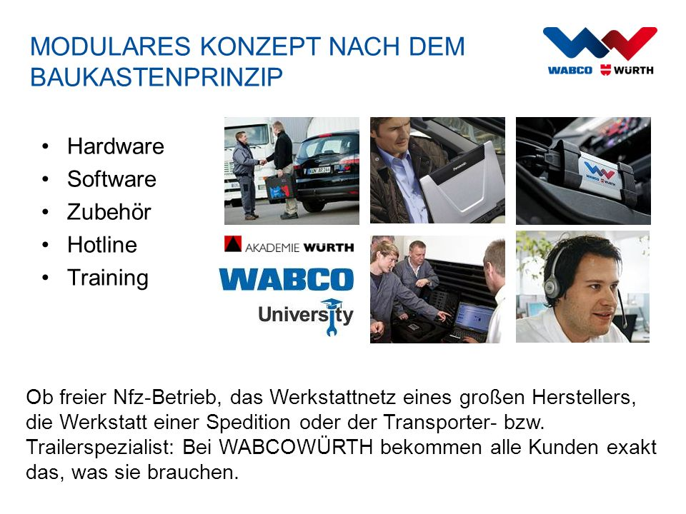 W.EASY – PRODUKTSORTIMENT MIT ORIGINAL WABCO SYSTEMDIAGNOSE W.EASY Complete Light (WW02010010) + + (inkl.