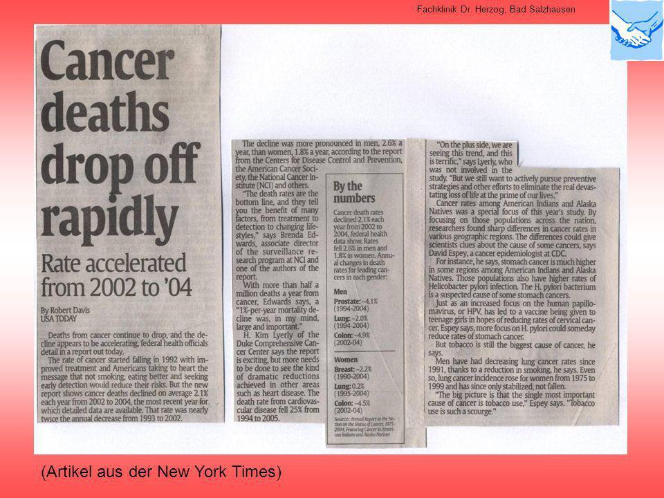 (Artikel aus der New York Times) Fachklinik Dr. Herzog, Bad Salzhausen