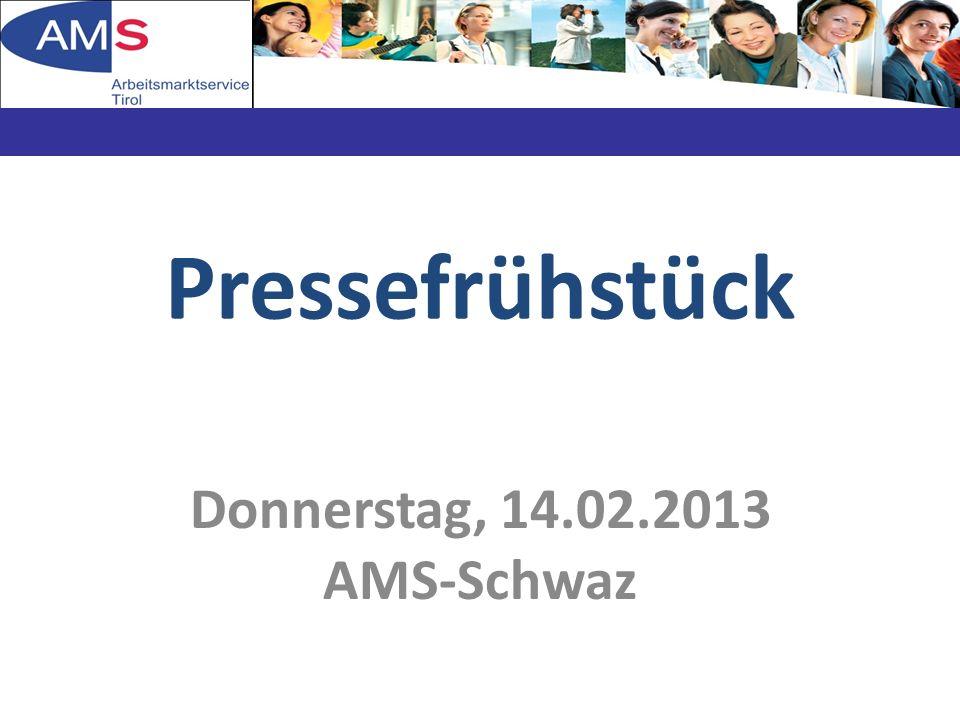 Jahr des neuen Hauses, des Führungswechsel und einer dynamischen Arbeitsmarktentwicklung 06.03.2014Präsentation AMS-Schwaz2 Rückblick 2012
