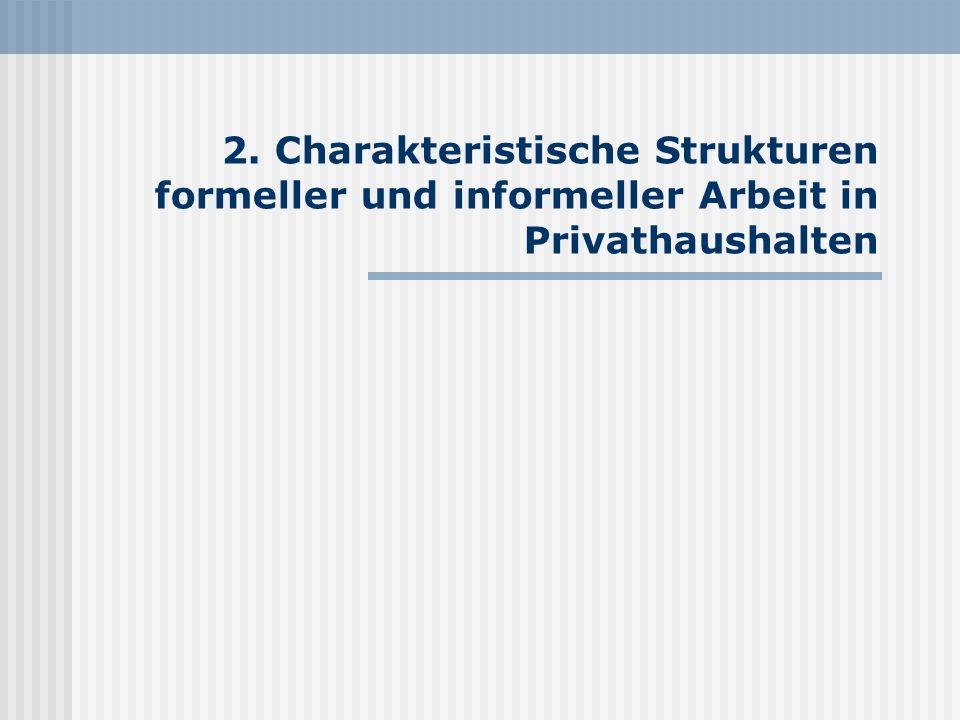 2. Charakteristische Strukturen formeller und informeller Arbeit in Privathaushalten