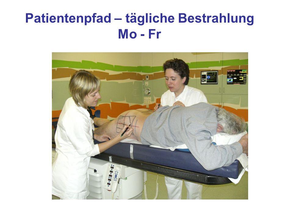 Patientenpfad – tägliche Bestrahlung Mo - Fr