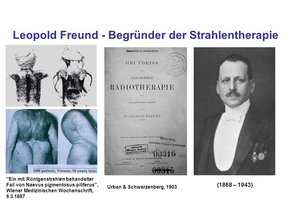 Leopold Freund - Begründer der Strahlentherapie (1868 – 1943)