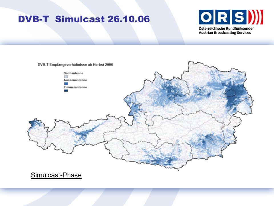 DVB-T Simulcast 26.10.06 Simulcast-Phase