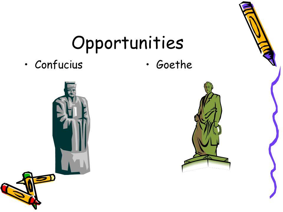 Opportunities ConfuciusGoethe